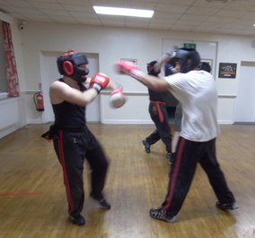 Wirral Kung Fu Academy sparring jab
