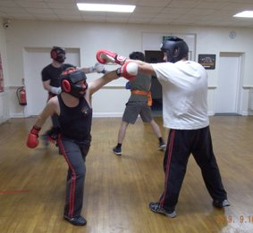 Wirral Kung Fu Academy sparring rising block